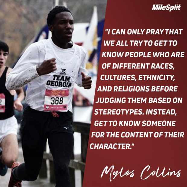 Myles Collins Reflects On Running And Race After Tragedy